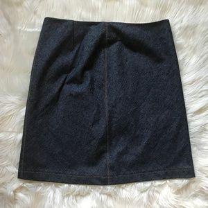 Elie Tahari Blue Denim Pencil Mini Skirt Size 10